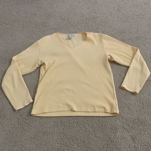 🦋 Yellow Cotton Long-Sleeve Top